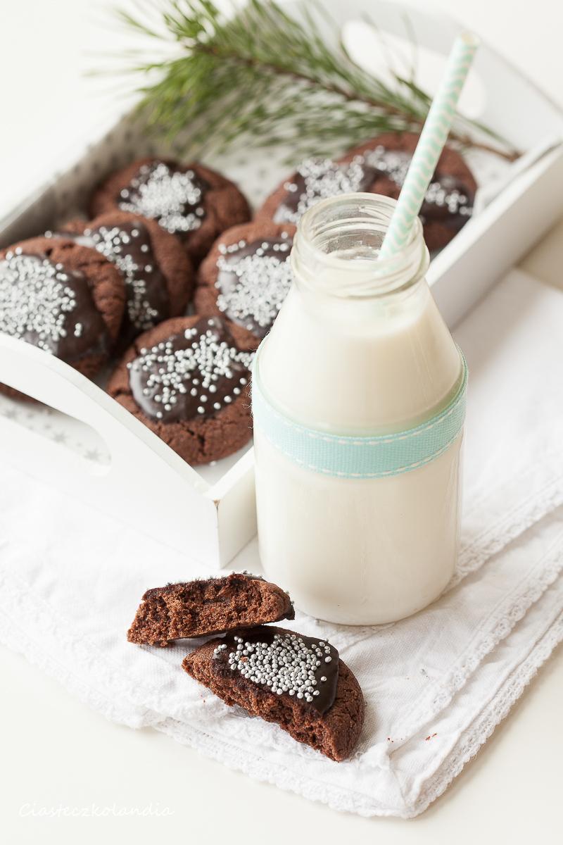 świąteczne ciasteczka czekoladowe