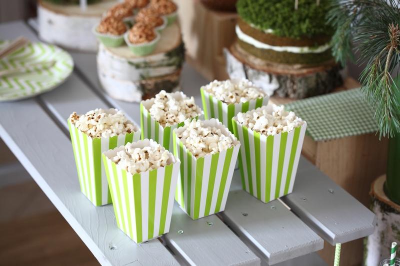 leśne urodziny popcorn
