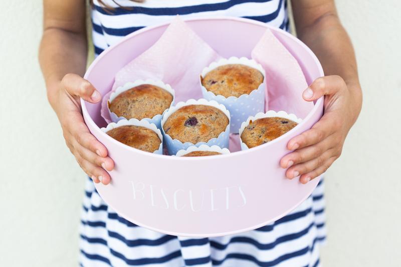 muffinki orkiszowe z jeżynami