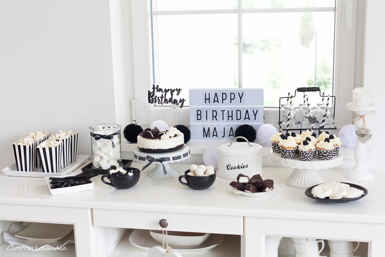 biało- czarne urodziny