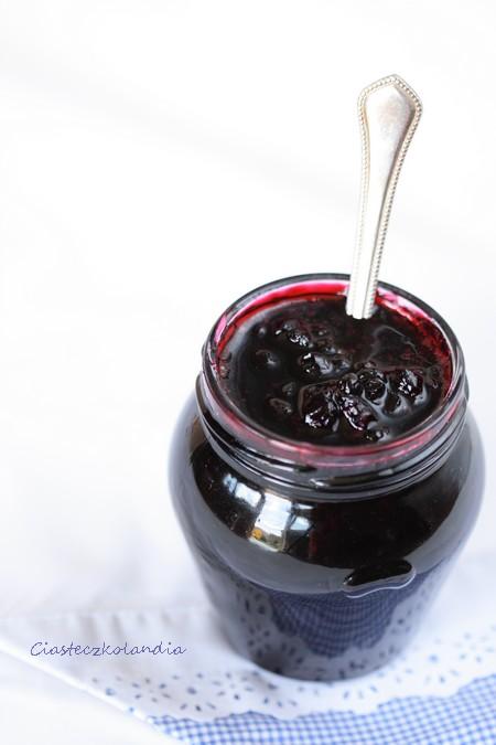 jagody w syropie cukrze