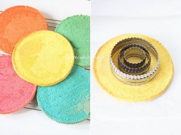 tort w kratkę kolorowy