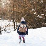 Małgosia, jelonek i pierwszy śnieg…