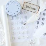 Jak zrobić śnieżynki z lukru (do ozdoby tortów, babeczek)