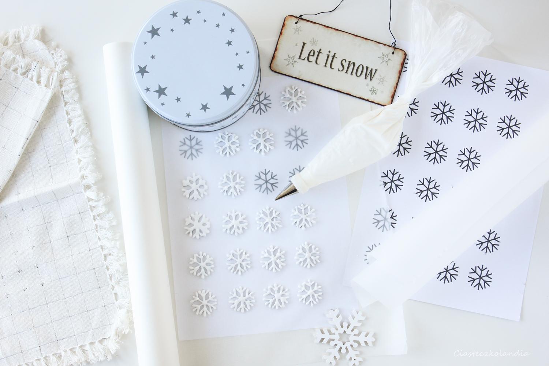 śnieżynki z lukru