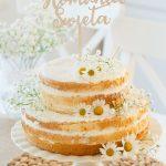 Lekki tort brzoskwiniowo- śmietankowy na Komunię