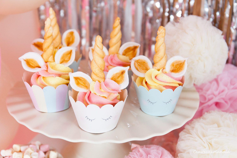 babeczki jednorożce unicorn cupcake