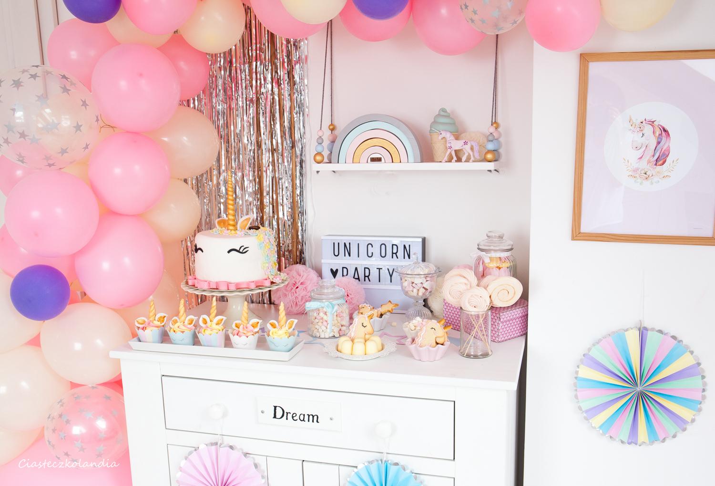 jednorożcowe urodziny przyjęcie, unicorn party, einhorn party