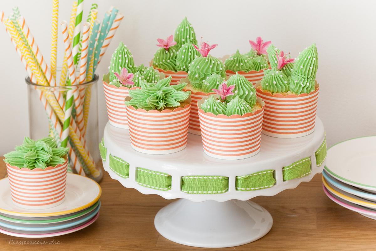 babeczki kaktusy, cactus cupcake