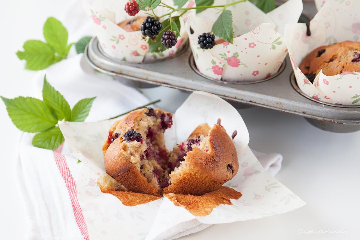 muffiny z jeżynami, muffinki z jeżynami