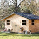 Nasz drewniany domek ogrodowy